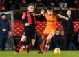 Dundee United striker Matty Smith has joined Cove Rangers