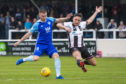 Peterhead's Rory McAllister (left) and Stephen Bronsky in action.