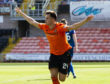 Dundee United's Lawrence Shankland celebrates his second goal
