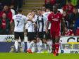 St Mirren celebrate Ilkay Durmus' first-half goal