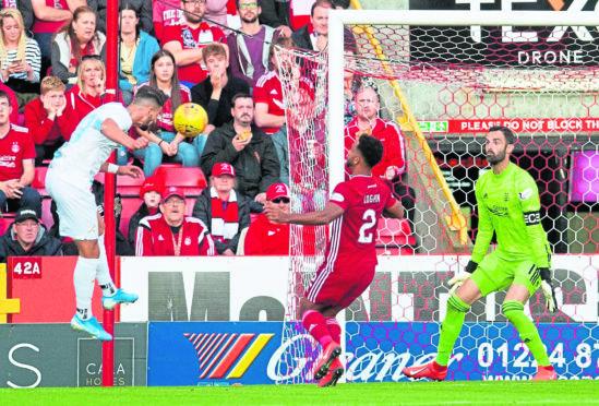 Rijeka's Antonio Colak (L) scores to make it 2-0