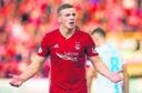 Aberdeen's Lewis Ferguson shows his frustration