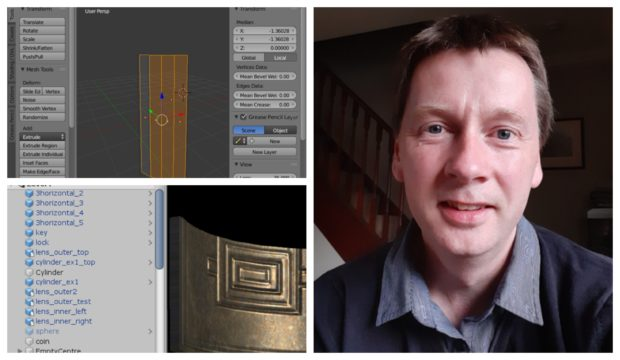 Calum Davidson spent more than 400 hours bringing his project together.