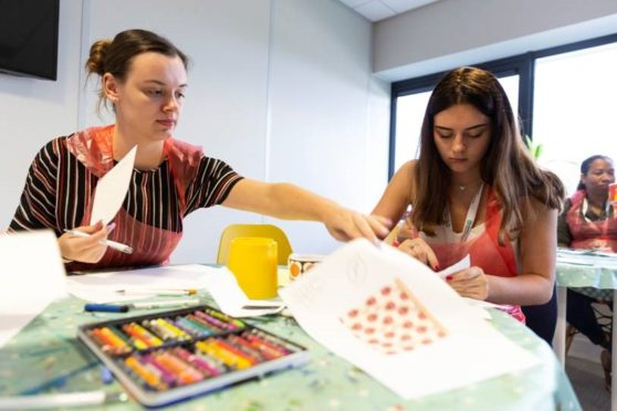 North-east charity hopes to combat work stress with hands-on art classes | Press and Journal