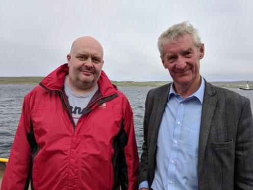 Shetland Tory candidate Brydon Goodlad and Conservative fisheries spokesman Peter Chapman
