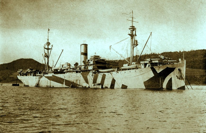 USS Black Hawk, formerly SS Santa Catalina. Picture courtesy of Inverness Local History Forum