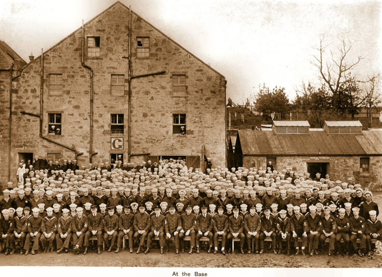 US sailors at the Glenalbyn Distillery base.  Picture courtesy of Inverness Local History Forum