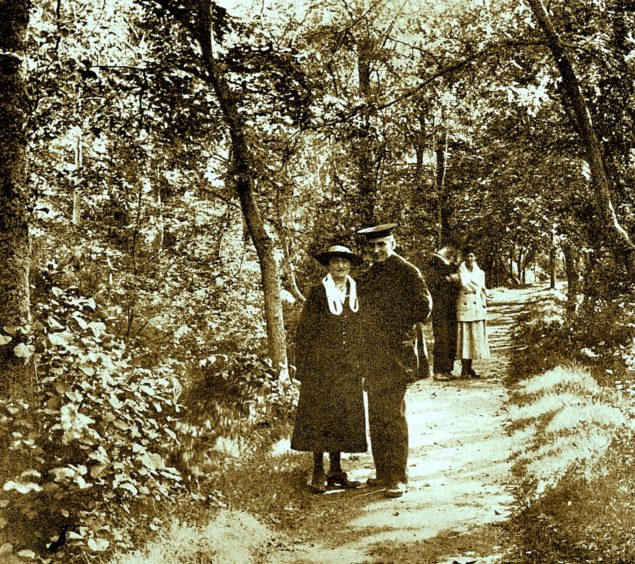 Lover's Lane, Ness Islands. Picture courtesy of Inverness Local History Forum