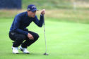 Matthew Jordan of England lines up a putt  on the 17th hole during day two of the Alfred Dunhill Links. (Matthew Lewis/Getty Images)
