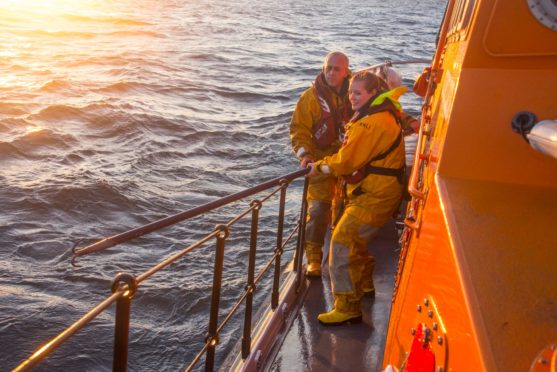 The Fraserburgh RNLI crew in action