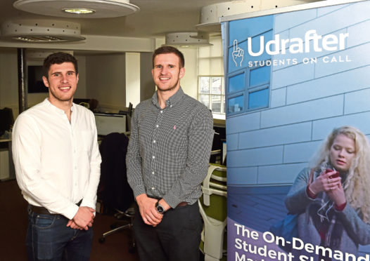Daryll and Luke Morrow, who run the Udrafter website at Commerce Street, Aberdeen. Picture by Jim Irvine