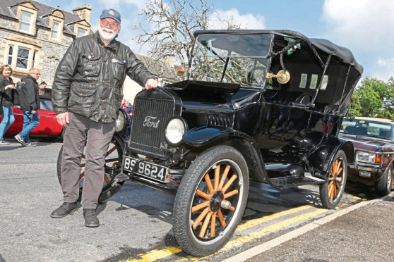 Bob Chapman from Aberlour with his 1920 Model T Ford.