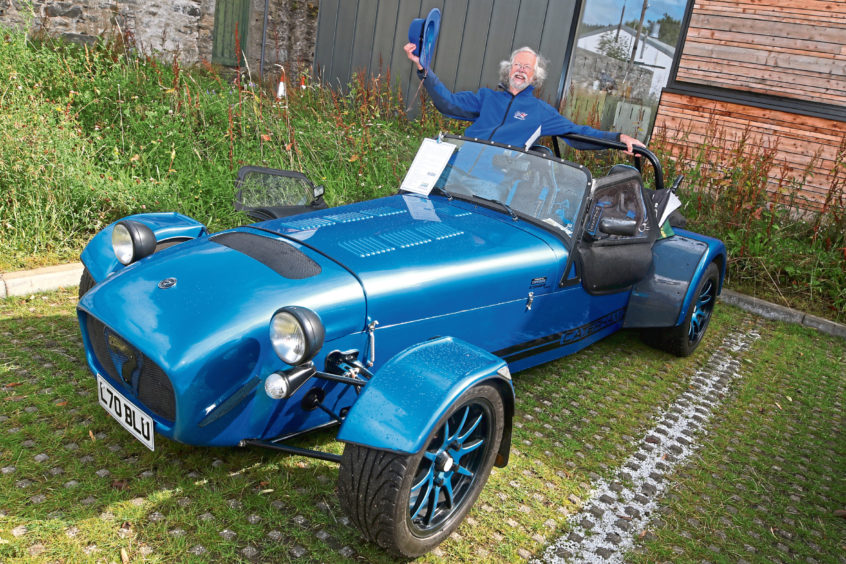 David Evans from Kemnay with his 2015 Caterham CSR 260.