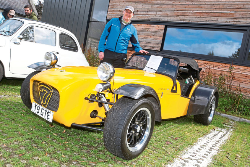 Laurence Prime from Tomintoul with his 2007 Caterham Superlight 33.
