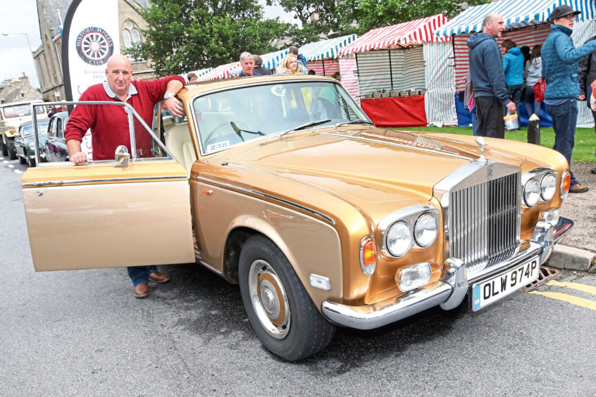 Graeme McIntosh from Nairn with his 1976 Rolls Royce Silver Shadow.