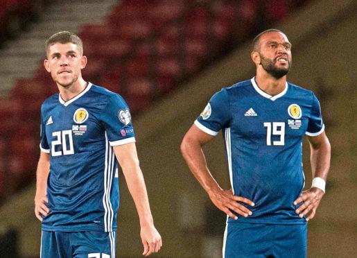Scotland's Ryan Christie and Matt Phillips