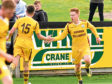 Macrae, right, in action for previous club Forres Mechanics.