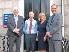L-R: Callum McDonald, Stewart Smith, Ishbel Nunn and Aaron Doran