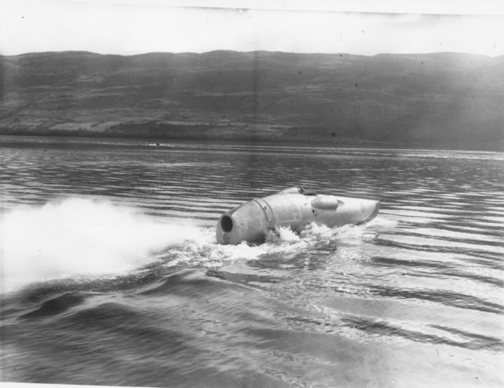 Mr Cobb had accelerated across the Loch at over 200 miles per hour