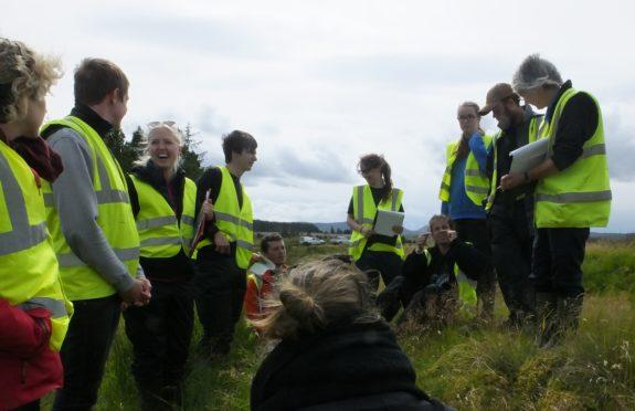 Flow County volunteers Pic: RSPB