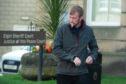 Craig Branson leaving Elgin Sheriff Court.