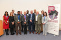Attendees at the Scottish Biologics Facility 10th anniversary included centre director Professor Andrew Porter, Lewis Macdonald MSP, facility manager Soumya Palliyil and head Aberdeen University School of Medicine, Medical Sciences and Nutrition, Professor Bhattacharya.