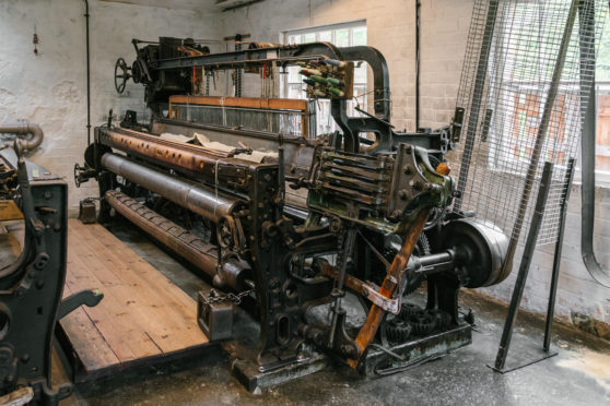 The Dobcross looms at Knockando Woolmill have been in operation since 1896.
