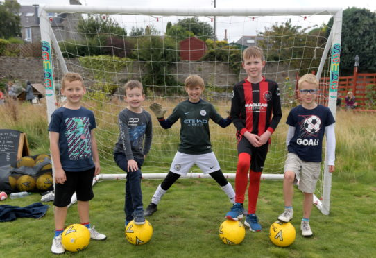 Children having fun at the Bonnymuir Green Open Day. Picture by Kath Flannery