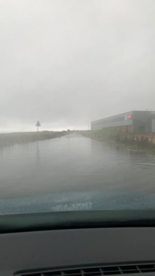 The road from Fraserburgh to Rosehearty. Picture by Sebastian Rennie