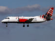 A Loganair plane stopped to allow the hedgehog across the tarmac.