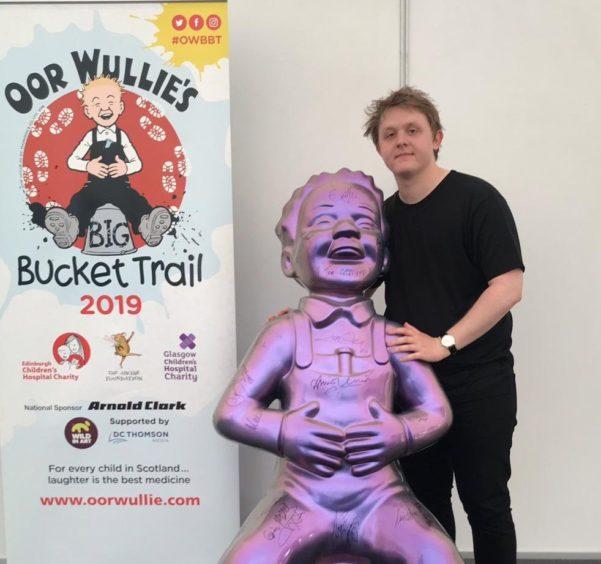 Oor Wullie with Lewis Capaldi