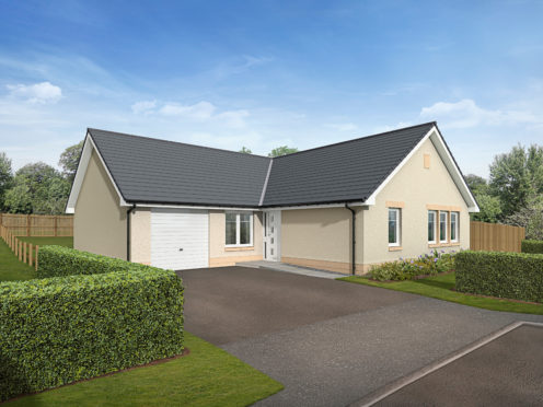 An artist impression of one of the homes proposed for the Forres development.