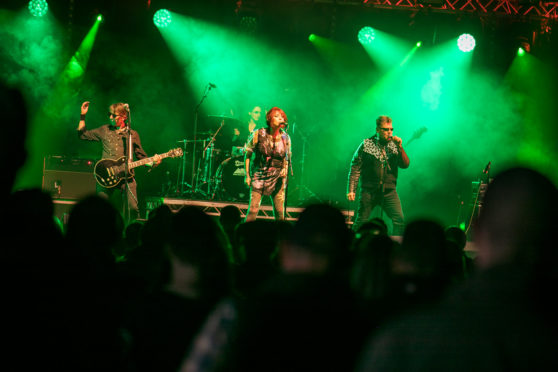 The Rezillos perform on the main stage at Loopallu