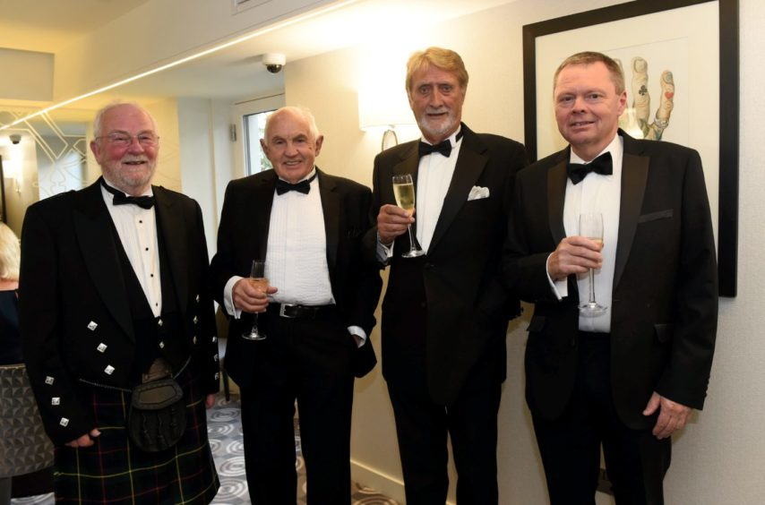Pictured from left, John Loveday, David Smith, Alistair Sinclair and Andrew Connon.  Picture by HEATHER FOWLIE