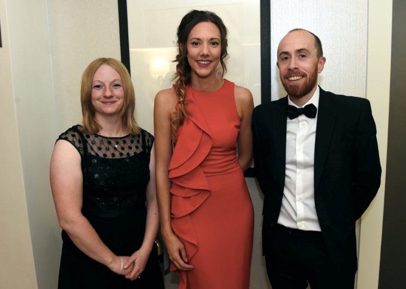 Pictured from left, Sarah Grayston, Louise Macdonald, Matthew Grayston.  Picture by HEATHER FOWLIE