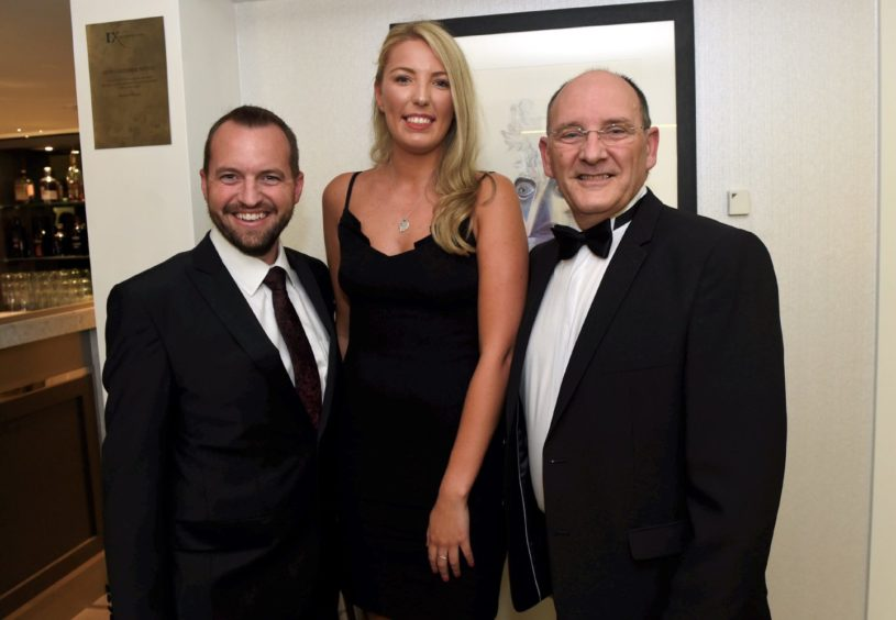 Pictured from left, Joe King, Danielle Brown and John Fraser.   Picture by HEATHER FOWLIE