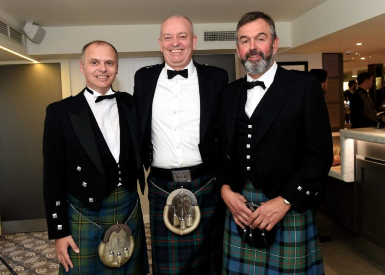 Pictured from left, Keith Anderson, Steven Jack and Fergus Tickell.  Picture by HEATHER FOWLIE