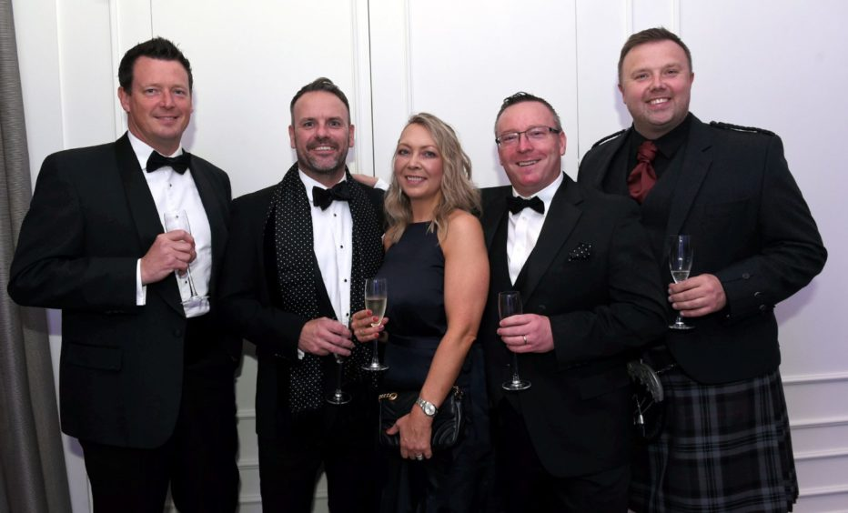 Pictured from left, Matthew Armstrong Williams, Neil Brady, Sarah Hollas, Wayne Strachan and Gordon Kessack.  Picture by HEATHER FOWLIE