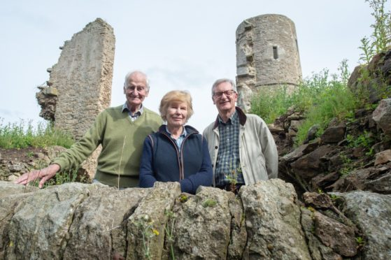 Picture: L2R - Sir James Dunbar-Nasmith, Kirsteen Mitcalfe and Tom Duff Pictures by JASON HEDGES