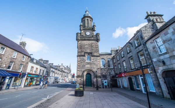Forres town centre.