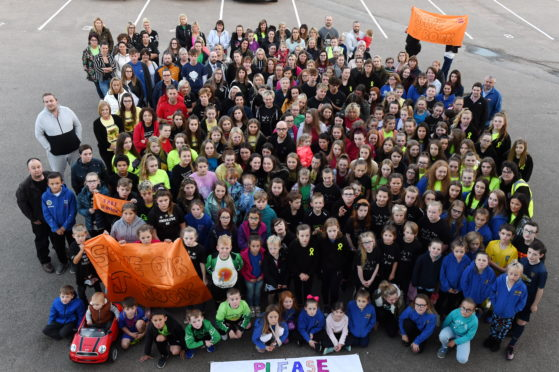 Hundreds showing their support for a local version of the cancelled Rock Challenge dance contest   Picture by KENNY ELRICK