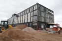 The soon-to-be completed Courtyard by Marriot Hotel at Inverness Airport.    Pictures by Sandy McCook