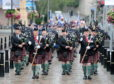 368 members of the regiment took part in the parade led by pipes and drums, which began on Inverness' High Street. Picture by Sandy McCook
