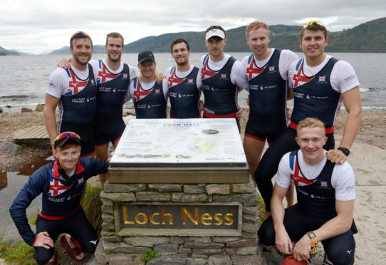 The GB8 team set the new record for navigating Loch Ness in the fastest time ever, coming in in a time of 2 hours, 4 minutes and 57 seconds. Picture by Sandy McCook