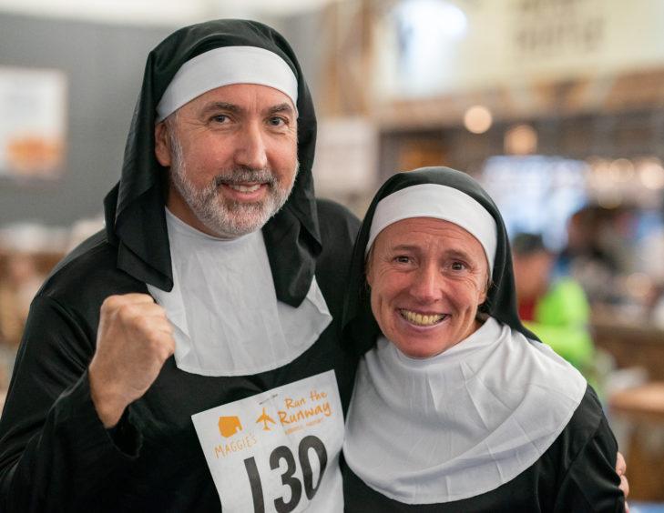 Iain and Tara Morrison aka the jogging nuns.