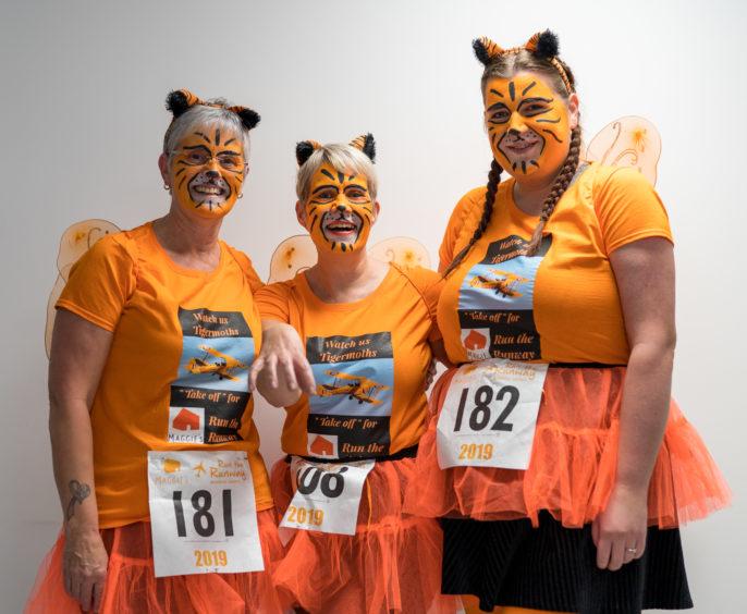 Three orange cats or Mandy, Johan and Rachel Wilson.