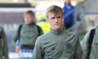 Ewan Henderson arrives at the Falkirk stadium.