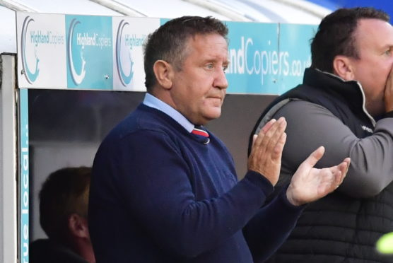 INVERNESS, SCOTLAND - August 30: Inverness manager John Robertson during the Ladbrokes Championship tie between Inverness CT and Greenock Morton, on August 30, 2019, at Caledonian Stadium, in Inverness. (Photo by Bill Murray / SNS Group)