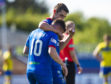 INVERNESS, SCOTLAND - SEPTEMBER 7:   Aaron Doran of Inverness celebrates his goal during the Tunnocks Caramel Wafer Challenge Cup 3rd Round between Inverness and Morton at Tulloch Caledonian Stadium, on September 7, 2019, in Inverness, Scotland. (Photo by Ross MacDonald / SNS Group)