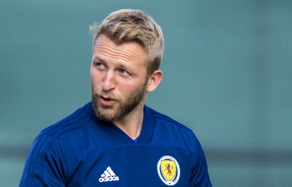 Scotland's Johnny Russell during a Scotland training session
